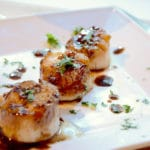 Fried scallops truffle vinegar